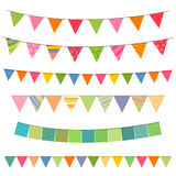 Colorful Garlands Stock Photos