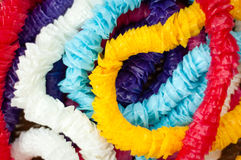 Colorful garlands in abstract background.  Royalty Free Stock Image