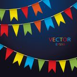Colorful garlands on white background. stock illustration