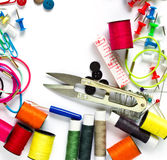 Colorful Garment accessories. Stock Photo