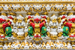 Colorful garuda on temple wall Stock Photos