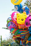 Colorful gas balloons cartoon Stock Image