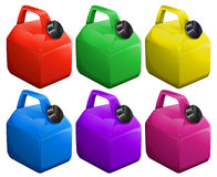 Colorful gas containers Royalty Free Stock Images