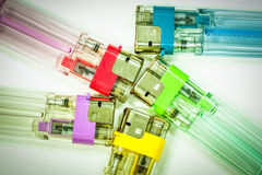 Colorful gas lighters Royalty Free Stock Photos