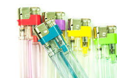Colorful gas lighters Royalty Free Stock Photography