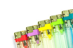 Colorful gas lighters Royalty Free Stock Photo