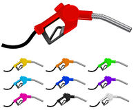 Colorful gas nozzle Royalty Free Stock Image