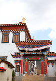 Colorful gate in Songzanlin Monastery in Zhongdian (Shangri-La),. Yunnan, China Royalty Free Stock Photography
