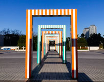 Colorful gates at Odaiba children park in Tokyo, Japan Royalty Free Stock Image