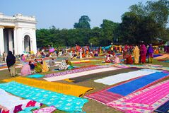 The colorful gathering of the people in the city of Kolkata.
