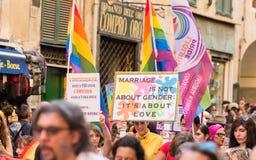 Gay Pride parade in Genoa, Italy Royalty Free Stock Photos