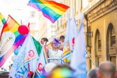 Gay Pride parade in Genoa, Italy Royalty Free Stock Image