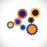 Colorful gear of abstract cogwheels in motion Stock Photos