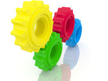 Colorful gear cogs Stock Images
