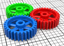 The colorful gear Royalty Free Stock Images