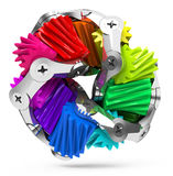 The colorful gear Stock Image