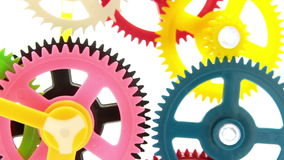 Colorful gear stock footage