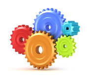 Colorful gear shift Royalty Free Stock Photos
