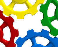 Colorful gear wheels Stock Photo