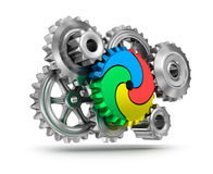 Colorful gear wheels - teamwork concept Stock Images