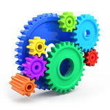 Colorful gear wheels. Tools and settings icon Royalty Free Stock Photo