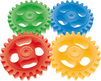 Colorful gears Stock Photography