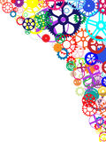 Colorful Gears Background Stock Images