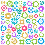 Colorful Gears Background Square Stock Image