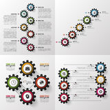 Colorful gears. Big set. Modern infographic design template. Vector illustration.  Royalty Free Stock Photos