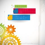Colorful gears on gray background. Royalty Free Stock Photo