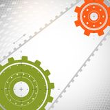 Colorful gears on gray background. Vector illustration Stock Photography