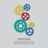 Colorful gears icons background design Royalty Free Stock Photos