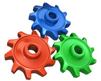 Colorful Gears Royalty Free Stock Image