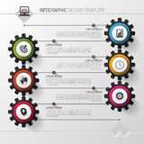 Colorful gears. Modern infographic design template. Vector illustration Stock Photo