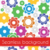 A colorful gears seemless pattern Royalty Free Stock Photo