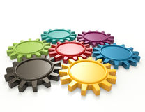 Colorful gears Royalty Free Stock Photography