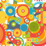 Colorful gears Stock Photos