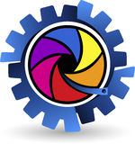 Colorful gearwheel logo Stock Photography