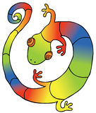 Colorful Gecko. Represent a colorful gecko. Available in  eps 8 file Stock Photos