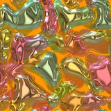 Colorful gel candy abstract Royalty Free Stock Photo