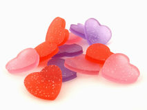 Colorful Gel Hearts Stock Images