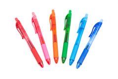 Colorful Gel Ink Pens Stock Photography