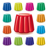 vector colorful  gelatin jelly assortment Royalty Free Stock Photography