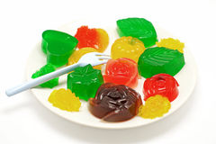 Colorful gelatin or jelly dessert Stock Photography