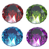 Colorful gems Royalty Free Stock Images