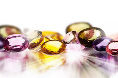 Colorful gems Stock Images