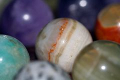 Colorful gems. Closeup, shallow DOF Stock Photos