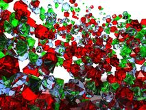 Colorful Gems background. A background with many green, red and white gems stock image