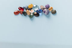 Colorful Gems group Stock Photos