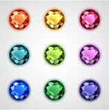Colorful gems set Royalty Free Stock Photography